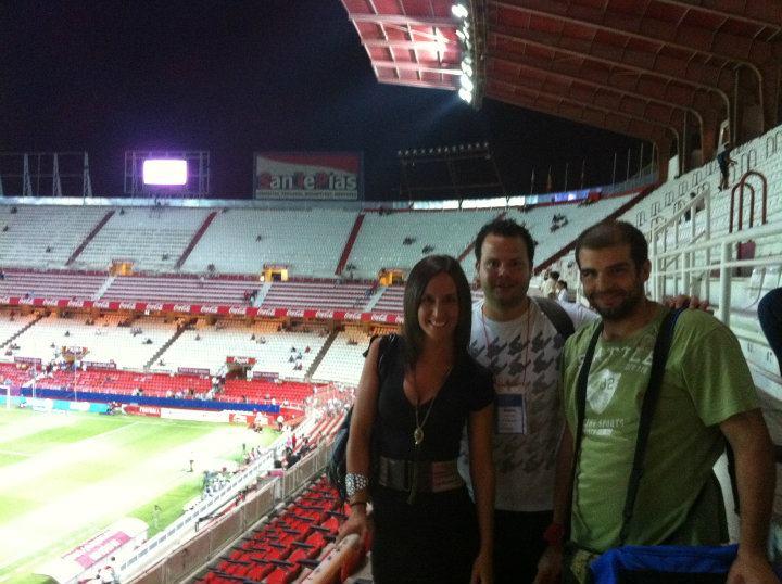 Con José Puertas y Borges en una de tantas noches en el RSP.